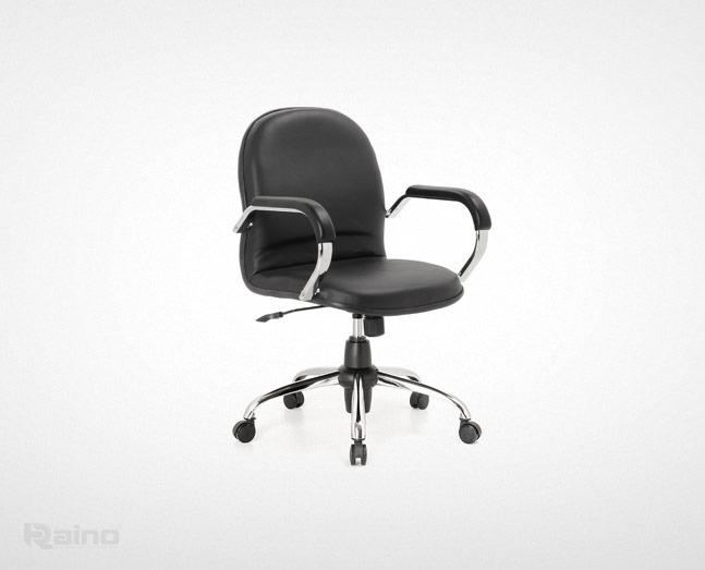 صندلی کارشناسی راینو مدل E502S رنگ مشکی