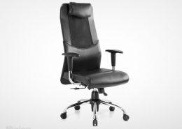 صندلی مدیریت راینو مدل M520B با رنگ مشکی و دسته قابل تنظیم