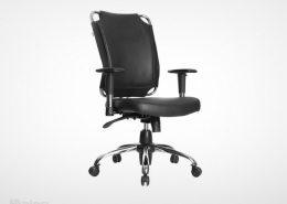 صندلی کارمندی راینو مدل J518B رنگ مشکی