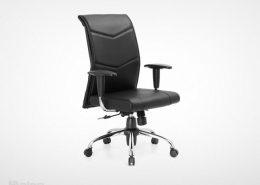 صندلی کارشناسی راینو مدل E515B با دسته قابل تنظیم