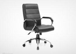 صندلی کارشناسی راینو مدل E560S با دسته انتگرال رنگ مشکی
