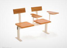 صندلی دانشجویی دو نفره راینو مدل D620