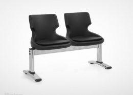 صندلی انتظار دو نفره راینو مدل w200-2 رنگ مشکی