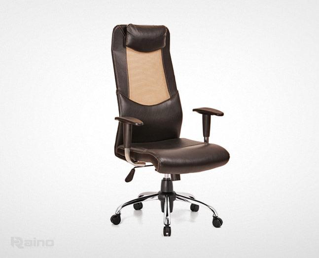 صندلی مدیریت راینو مدل M520B با دسته تنظیم شونده و پشت سری