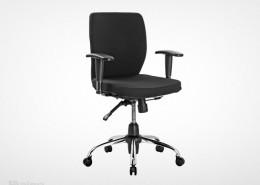 صندلی کارمندی راینو E510B با پایه چرخدار پنج پر