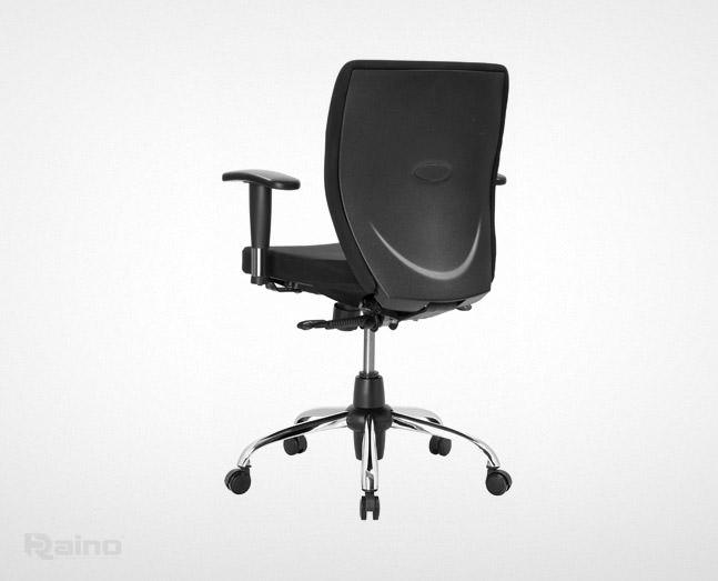 صندلی اداری راینو مدل E510BC با دسته قابل تنظیم از نمای پشت
