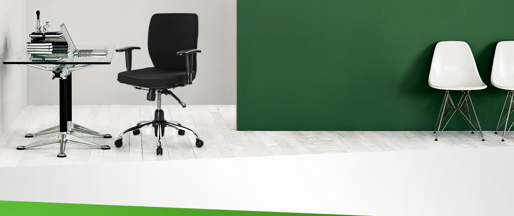 صندلی کارمندی راینو مدل E510B با دسته قابل تنظیم