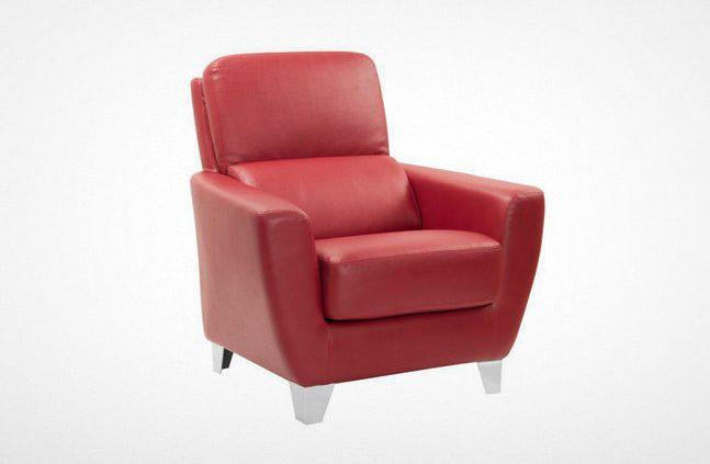مبل اداری راینو W330 مدل تک نفره با رنگ قرمز