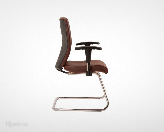 صندلی کنفرانس راینو C510B رنگ قهوه ای با دسته قابل تنظیم