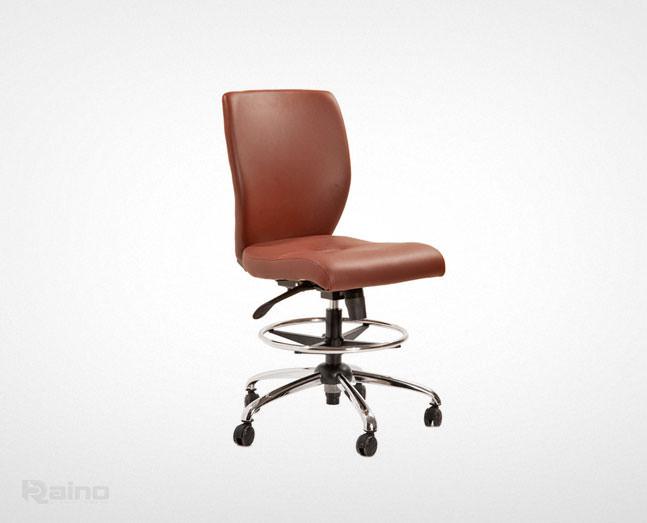 صندلی کارگاهی راینو مدل JK510 با جای پا و رنگ قهوه ای