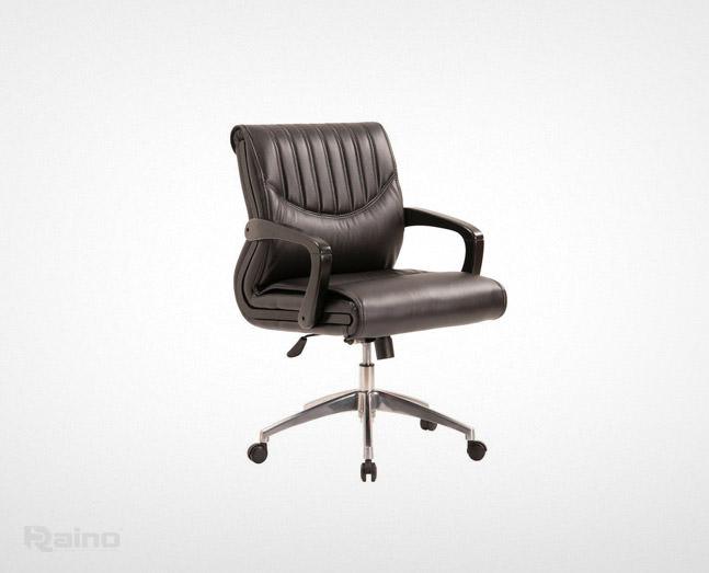 صندلی کارشناسی راینو مدل E470N با پایه فلزی و رنگ مشکی