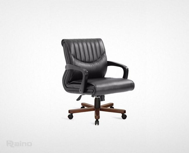 صندلی کارشناسی راینو E470N با پایه چوبی