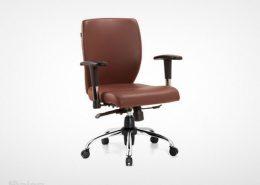 صندلی کارمندی راینو J510B پنج پایه با رنگ قهوه ای
