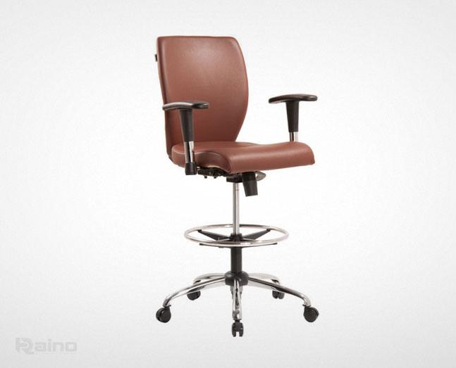 صندلی کارگاهی راینو مدل JK510B با پایه و دسته قابل تنظیم