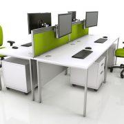 دکوراسیون داخلی محیط کار با صندلی اداری مدرن و ارگونومیک